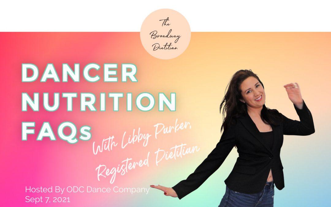 Dancer Nutrition FAQs Video